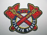 """Atlanta Braves~Est. 1876~Embroidered PATCH~@ 3""""x 3""""~Iron Sew~MLB~Ships FREE"""