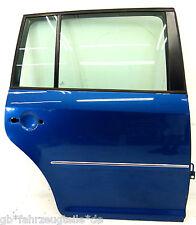 Original VW Touran 1T Highline Bj.06 Tür hinten rechts LC5C Biscay Blue metallic