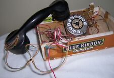 Vintage Telephone Parts Automatic Electric Co On Finger Dial With Headphone