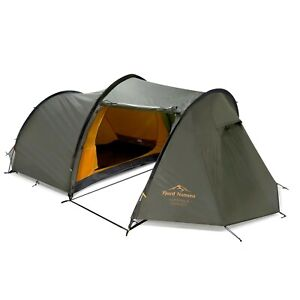 Large 3-person Tunnel Tent Camping Hiking Family Tents Outdoor Sleeping