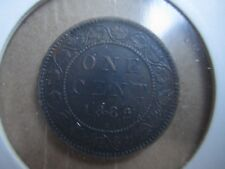 1882 H Canada Large Cent One Penny Victoria Coin- Circulated