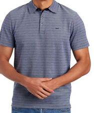 Michael Kors NEW Gray Mens Size XL Short-Sleeve Polo Striped Shirt NWT