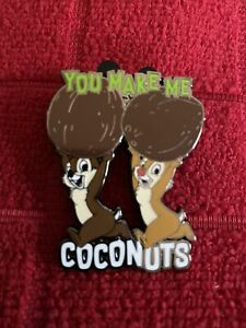 2021 Disney Character Food Mystery Pin Chip and Dale with Coconuts