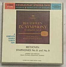 Deutsche Grammophon Beethoven Symphonies No 8 & No 9  Karajan Reel Tape