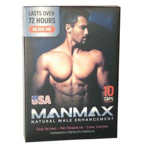 MANMAX - 100% Natural Male Sexual Enhancement 10 Pills