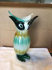 Vintage Art Glass Owl Figurine/Vase