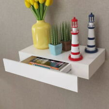 Floating Shelf Shelves with 1 Drawer Display Unit Wall Mounted Book/DVD Storage