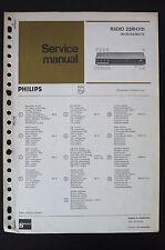 Philips Radio 22RH701 Original Manuels de Reparation/Manuelle/Amplificateur !