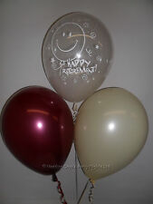 30 Clear Retirement / Burgundy Ivory Helium or Air Balloons Party Decorations