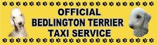 BEDLINGTON TERRIER OFFICIAL TAXI SERVICE Dog Car Sticker By Starprint