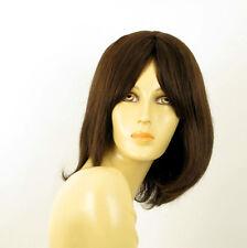 Perruque femme 100% cheveux naturel châtain ref BAHIA 6