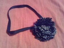 Rockabilly Black Flower Headband BNWOT