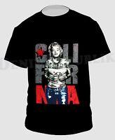CALIFORNIA MONROE Black T-Shirt New Men's Cali Life Tee Marilyn CALI FOR NIA