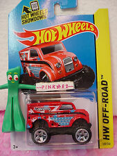 Case K/L 2014 i Hot Wheels Monster Dairy Delivery #122✿Red;Stars/Stripe~O ff-Road