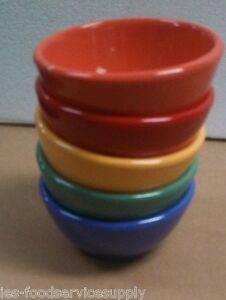 (5) BOWL BOWLS 10 OZ HEAVY MELAMINE 5 Color Oatmeal Salsa Vegetable Soup Side 10