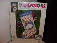 "Dimensions Cross Stitch Stocking Kit""JOLLY SANTA"" RETIRED""Designer Vicki Howard"