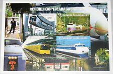 MADAGASCAR MALAGASY 1999 Trains Züge imperf Railway Eisenbahn JR EMU AZUSA MNH