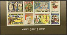 US 4905a Vintage Circus Posters forever footer block set MNH 2014