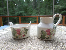 VINTAGE I.W. RICE & CO. SUGAR & CREAMER WITH STRAWBERRIES MADE IN JAPAN  Sticker