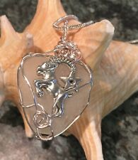 sea glass pendant with Capricorn birth-sign