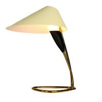 Tisch Lampe Messing Schlaufenfuß Top Design Leuchte Vintage Stilnovo Stil 50er
