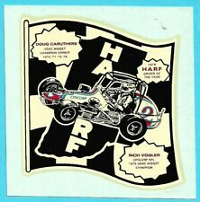 Decal: RICH VOGLER. 1978 HARF Driver Of The Year. Midget Auto Racing Sticker