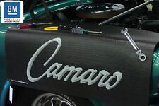 Black Fender Gripper Protective Cover Cushion Script Emblem For Chevrolet Camaro