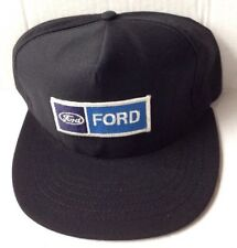 1970s 1980s FORD MOTOR COMPANY TRUCKER BASEBALL CAP HAT, BLACK, NEW NOS VINTAGE