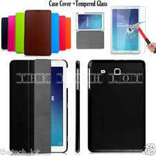 "Samsung Galaxy Tablet Stand Case Cover For Tab E 9.6"" T560 T561 & Tempered Glass"