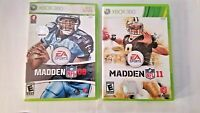 Madden NFL Video Game Lot 2008 & 2011 Xbox 360 + Manuals Rated E