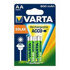 2 x VARTA SOLAR Accu AA Rechargeable Batteries 800 mAh HR6 56736 1.2V