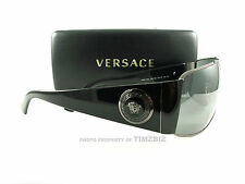 New Versace Sunglasses VE 2163 Gunmetal Black 1381/6G Authentic