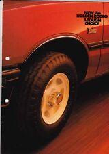 1984 HOLDEN KB RODEO 4x2 & 4x4 UTE Australian Brochure Like ISUZU FASTER