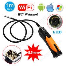 1M Wifi Wireless Car Inspection Endoscope Borescope Video 2MP Camera 8.5mm R1