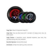 Genuine Prosport Evo 60mm Oil Temp gauge Deg C 4 colour with peak and warning