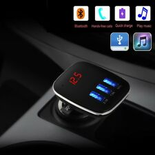 Car Handsfree Bluetooth FM Transmitter MP3 Player 3 USB Charger For iPhone 8 X 7