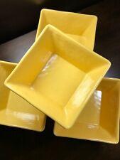 New listing x4 Tommy Bahama New! Sun Lemon Yellow Square Hobnail Melamine Bowls