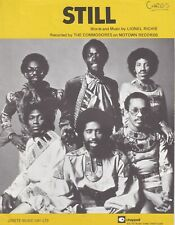 Still - The Commodores - 1979 Sheet Music