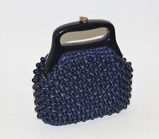 Vintage Hong Kong Purse Handbag 60's lucite handles Gold toned hardware Sz Smal