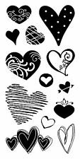 Inkadinkado Clear Stamps - Hearts, Love, Valentines Day, Valentine's