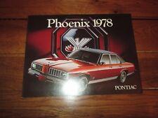 GM Phoenix 1978 Pontiac Car Sales Brochure