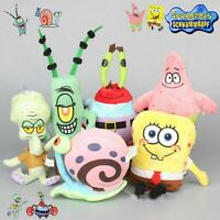 6PC Spongebob Plush Toy Teddy Kids Cartoon Gift Soft Stuffed Doll Collection