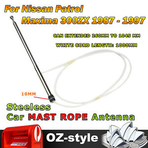 Aerial Mast & Rope AM FM Radio Antenna For Nissan Patrol Maxima 300ZX 1987-1997