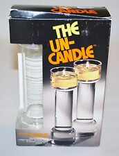 "Vintage 9"" set The Un-Candle Pyrex 1970's Floating Pair Collectible with Box"
