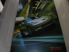 TOYOTA CELICA ACCESSORIES SALES BROCHURE OCTOBER 2001 FOR 2002