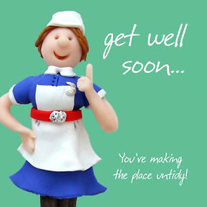 GET WELL SOON Greetings Cards ~ Poorly Accident Recovery Operation Fun Quirky