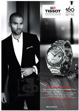 Tony Parker (basketball) 1-pg clipping Oct 2013 ad for Tissot