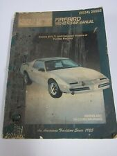 Pontiac Firebird Repair Manual   1982 thru 1992   Chilton