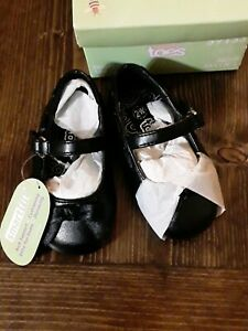 Black dress shoes size2W teeny toes new never worn before. Excellent condition