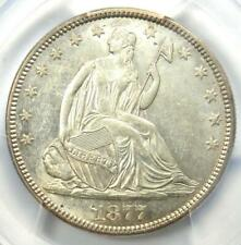 1877 Seated Liberty Half Dollar 50C - Certified PCGS AU Details - Near MS / UNC
